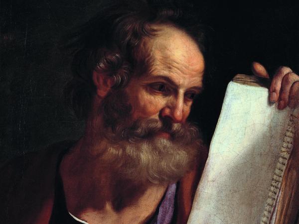 Giovan Francesco Barbieri detto IL GUERCINO, Profeta, 1649. olio su tela, cm. 60,5x49,5