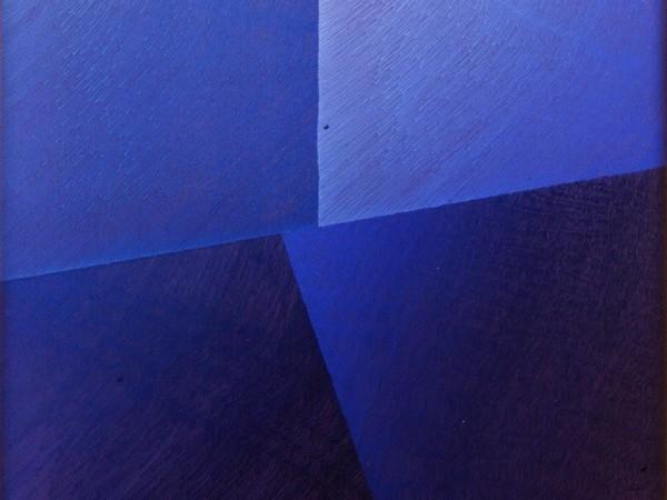 """Rosanna Rossi, """"Senza titolo"""", acrilico e olio su tela, 100x100 cm, 1980"""