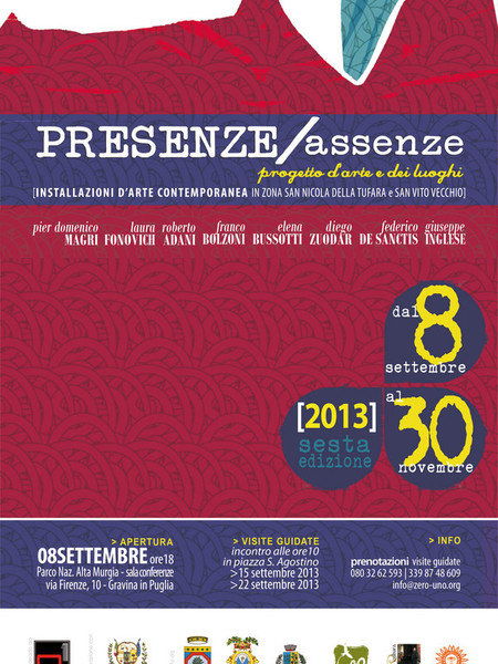Presenze/ Assenze. VI Edizione, Varie sedi, Gravina in Puglia (BA)