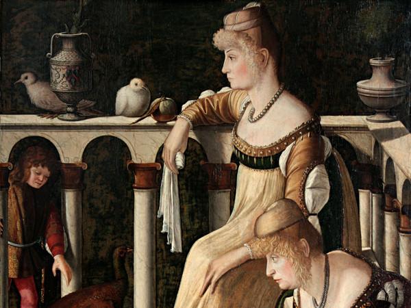 Vittore Carpaccio, Due dame veneziane (Le Cortigiane), 1490-1495 circa, Tempera e olio su tavola, 94.5 x 63.5 cm, Venezia, Museo Correr | © MUVE - Fondazione Musei Civici di Venezia