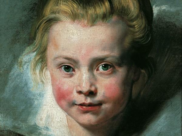 Pietro Paolo Rubens, <em>Ritratto della figlia Clara Serena</em>, 1615 - 1616, Olio su tela applicata su tavola, 33 x 26.3 cm, Vienna, Palazzo Liechtenstein - The Princely Collections
