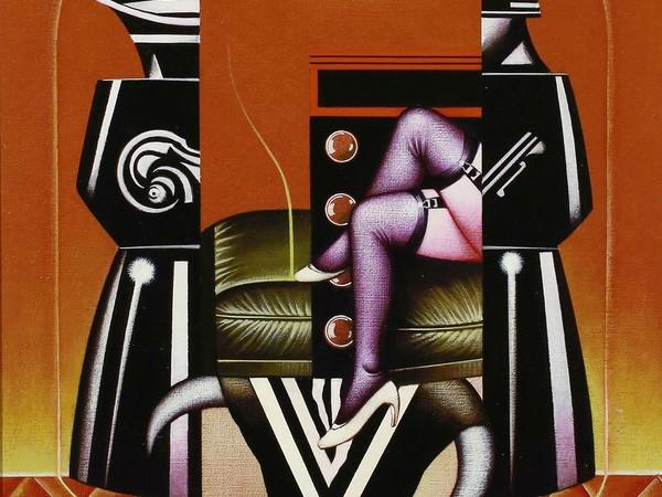 Sergio Sarri, Studio per Belle de Jour (omaggio a Bumuel), 1985, acrilico su tela, 55x40cm