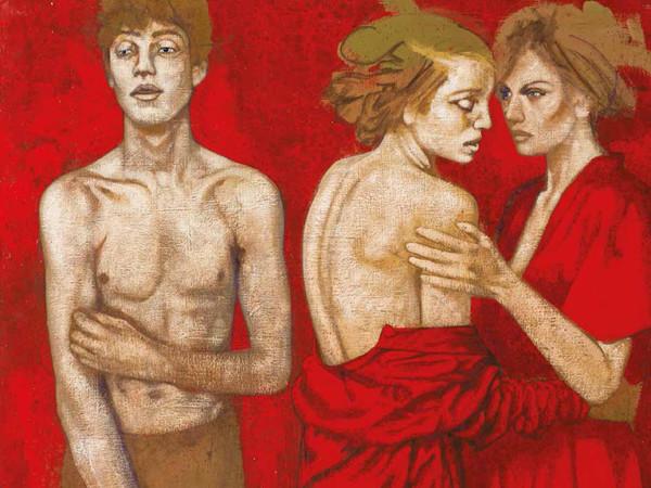 © Tarik Berber, <em>Cadmium Toxic Red 1</em>, 2016, Olio su tela, 75 x 65 cm | Courtesy of Tarik Berber London 2016<br />