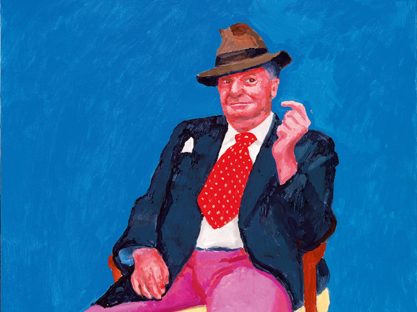 David Hockney, <em>Barry Humphries</em>, 26th, 27th, 28th marzo 2015, Acrlico su tela, 91.4 x 121.9 x cm | &copy; David Hockney | Foto: Richard Schmidt