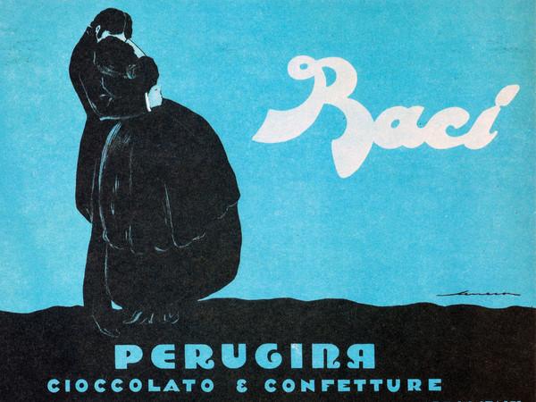 Federico Seneca, Manifesto pubblicitario, <em>Baci Perugina</em>, 1922, Carta/cromolitografia, 140 x 100 cm, Museo Nazionale Collezione Salce, Treviso