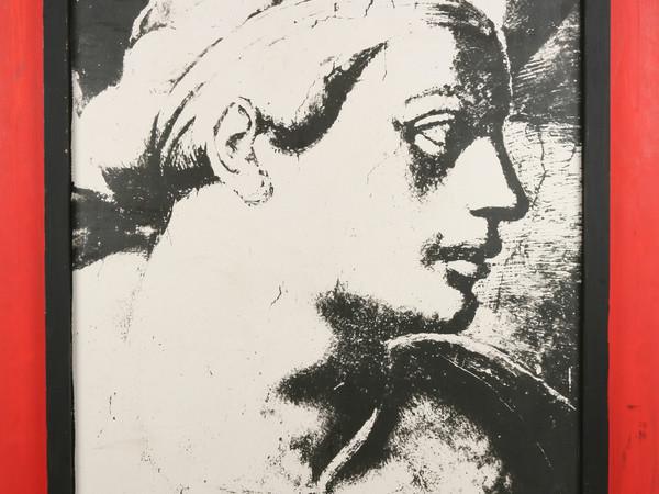 Tano Festa, Da Michelangelo, 1979, smalto su legno e emulsione fotografica, cm. 160x130