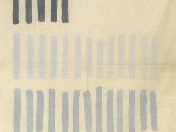 Giorgio Griffa, Grigio Verticale, 1969