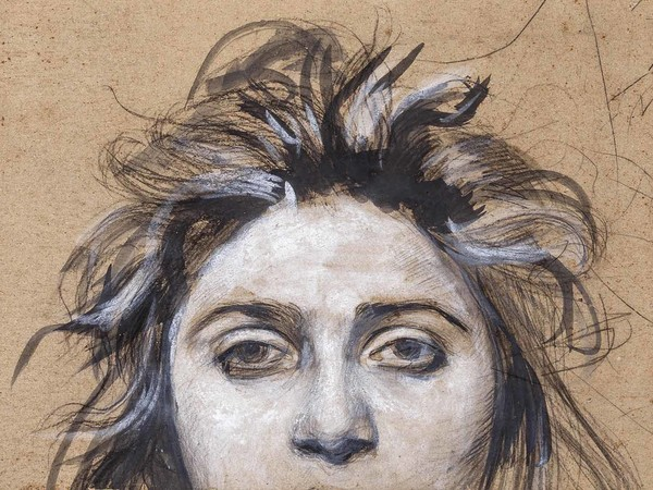 Vincenzo Gemito, Frammento del ritratto di Anna, matita, inchiostro e tempera, Museo Nazionale di Capodimonte