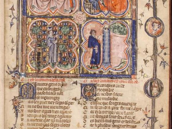 Roman de la Rose, Parigi, metà del sec. XIV Roma, Biblioteca dell'Accademia Nazionale dei Lincei e Corsiniana, 55 K 4
