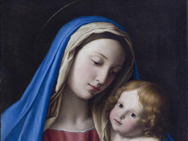 Giovan Battista Salvi (detto il Sassoferrato), Madonna con Bambino, s.d., Olio su tela, 48.5 x 65 cm, Accademia Nazionale di San Luca, Roma