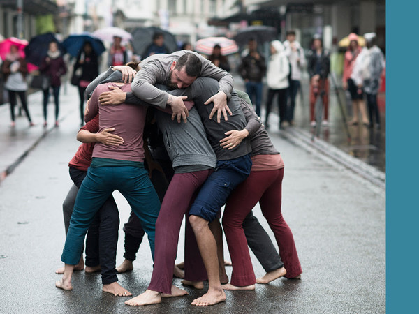 Simone Forti. Huddle, 1961, performed at Le Mouvement - Performing the City, Biel/Bienne, 2014. The Museum of Modern Art, New York