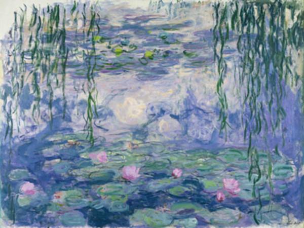 Claude Monet (1840-1926), Nymphéas, vers 1916-1919. Huile sur toile, 150x197 cm. Paris, musée Marmottan Monet, legs Michel Monet, 1966