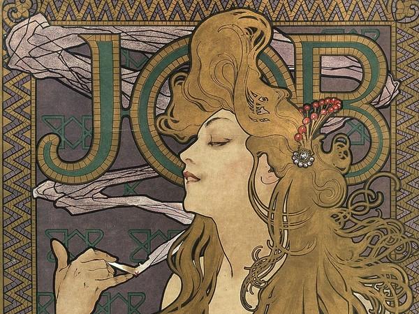 Alfons Mucha (1860-1939), <em>JOB</em>, 1896, Litografia a colori su carta, 48 x 58 cm