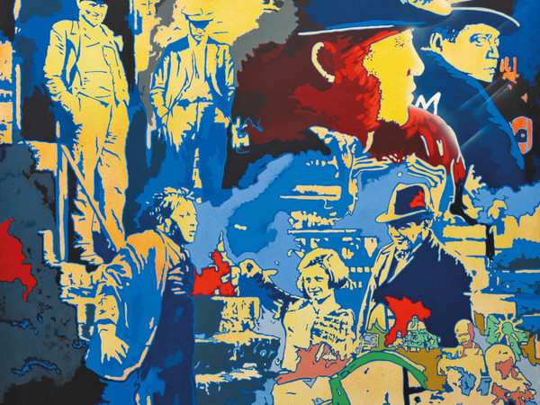 Giangiacomo Spadari, Il mostro di Dusseldorf, 1976, acrilico su tela, cm. 190x190