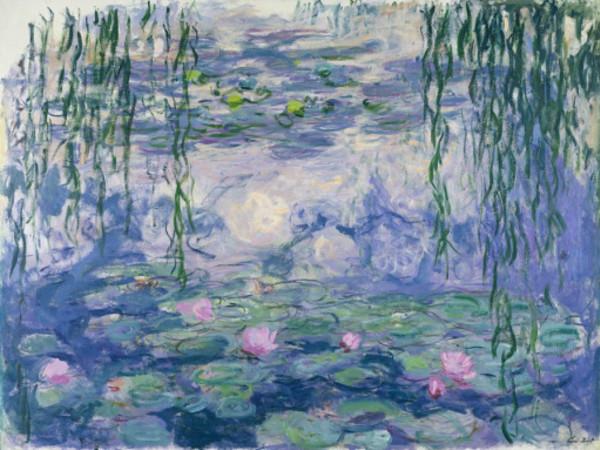 Claude Monet, Nymphéas, vers 1916-1919, Huile sur toile, 150x197 cm. Paris, musée Marmottan Monet, legs Michel Monet, 1966
