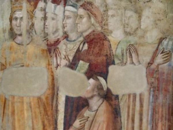 Giotto e bottega, <em>Ritratto di Dante nel Paradiso.</em>Firenze, Museo Nazionale del Bargello, Cappella della Maddalena