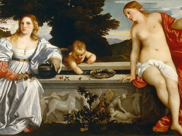 Tiziano Vecellio, Amor sacro e Amor profano, 1514, Olio su tela, 279 x 118 cm, Roma, Galleria Borghese