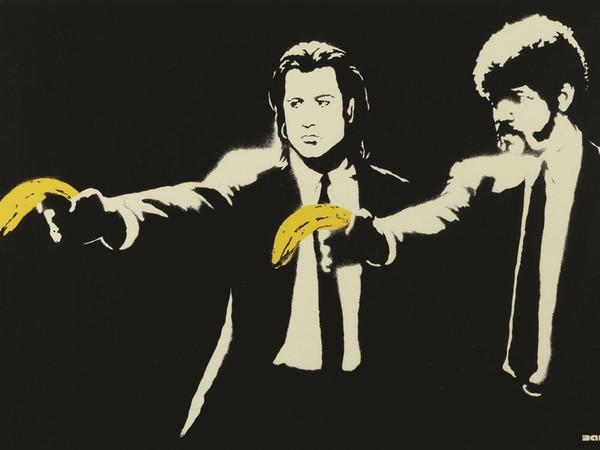 Banksy, Pulp Fiction, 2015, serigrafia su carta 50x70 cm. Collezione privata