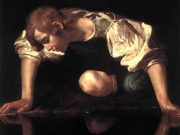 Caravaggio, Narciso alla fonte, 1597-1599, Olio su tela, 92 x 112 cm, Galleria Nazionale d'Arte Antica, Palazzo Barberini, Roma