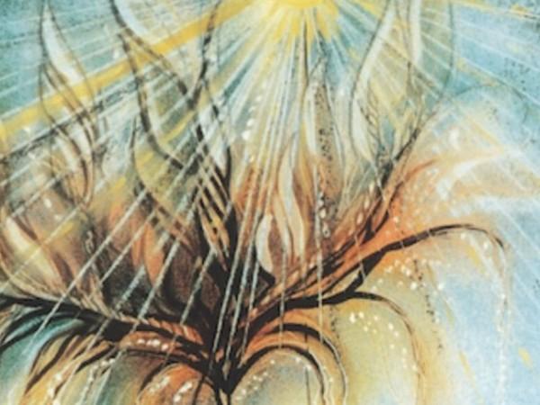 Carlo Tedeschi, L'albero, olio su tela, 1994(part.)