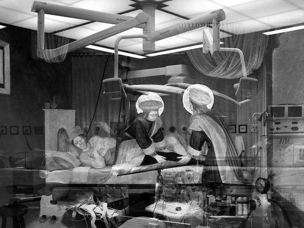 Mounir Fatmi, Blinding Light #5, 2013, stampa inkjet su carta fine art, 180x268 cm., edizione di 5