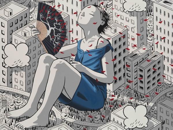 Millo, Still Image, acrylic on canvas, 80x70 cm.