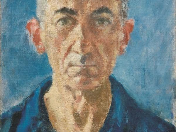 Ardengo Soffici, Autoritratto 1949. Olio su tela cartonata, cm 50x35. Firenze, Gallerie degli Uffizi, Galleria delle Statue e delle Pitture