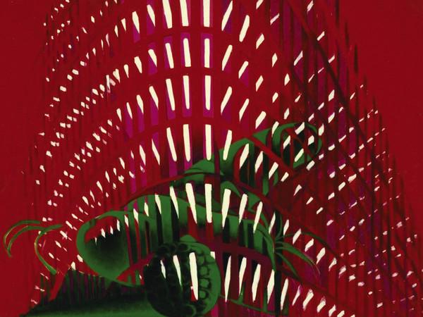 Titina Maselli, <em>La Ville II</em>, 1971, Olio su tela, 201 x 119.5 cm, Galleria Massimo Minini di Brescia | Courtesy of Galleria Massimo Minini, Brescia | Foto: Gilberti Petr&ograve;