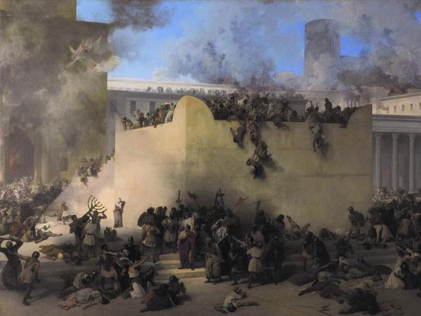 Francesco Hayez, La distruzione del Tempio di Gerusalemme, 1867, Venezia, Gallerie dell'Accademia