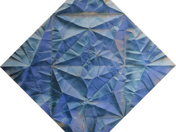 Marica Fasoli, Pegasus 2019, tecnica mista su carta, cm. 50x50, designed origami by Hanry Pham