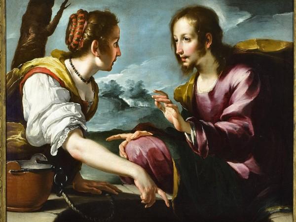 Bernardo Strozzi, Cristo e la Samaritana, olio su tela, cm. 95x112. Collezione privata