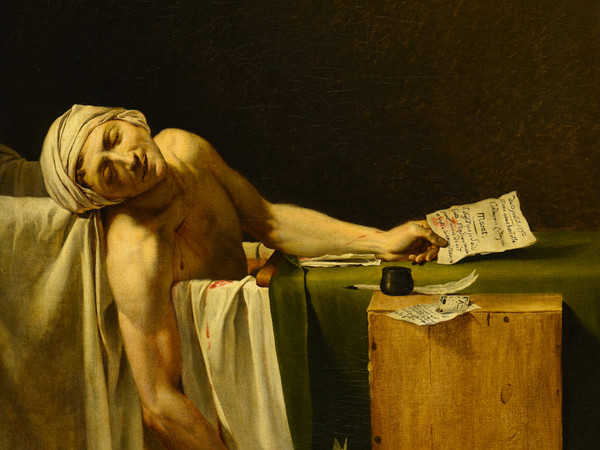 Jacques-Louis David, La morte di Marat, olio su tela, 165×128 cm.