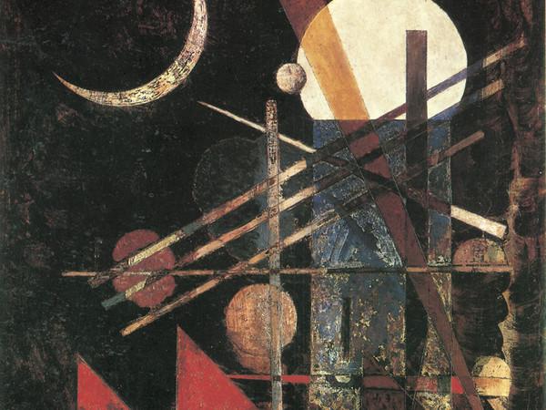 Wassily Kandinsky, Sichel (Falce), 1926 olio su cartone, 42x33. Milano, Collezione privata