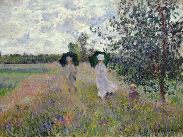 Claude Monet (1840 - 1926), Passeggiata ad Argenteuil, 1875, Olio su tela, 61 x 81.4 cm, Parigi, Musée Marmottan Monet, Dono Nelly Sergeant-Duhem, 1985 | © Musée Marmottan Monet, Paris / Bridgeman Images