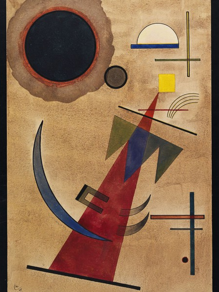 Kandinsky, Rot in Spitzform,1925