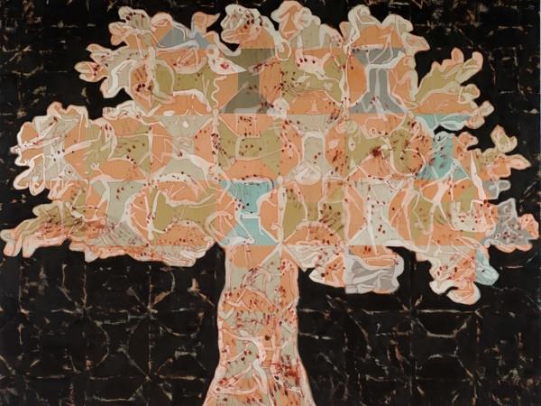 Francesco Clemente, Tree of Life, 2013-2014, tecnica mista su tela. Collezione privata
