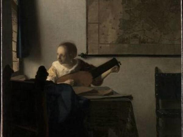 Johannes Vermeer, La donna con il liuto, <span>1662-1663 ca.,</span>olio su tela, cm. 51,4x45,7. <span>Lascito di Collis P. Huntington, 1900.</span>Metropolitan Museum of Art, New York
