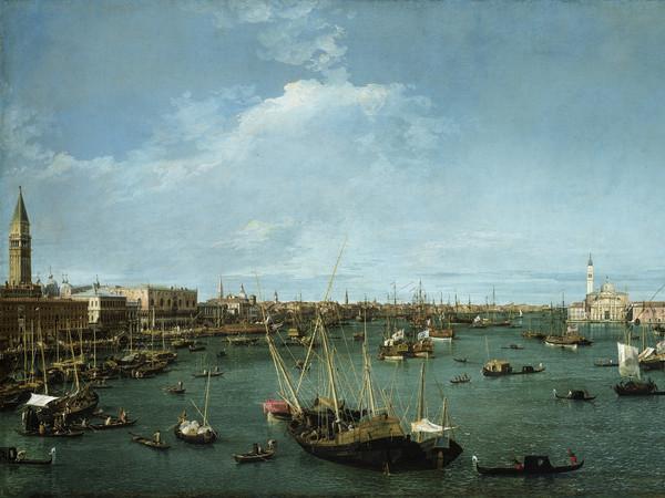 Antonio Canal detto Canaletto, Il Bacino di San Marco, Olio su tela, 204.5 x 124.5 cm, Boston, Museum of Fine Arts
