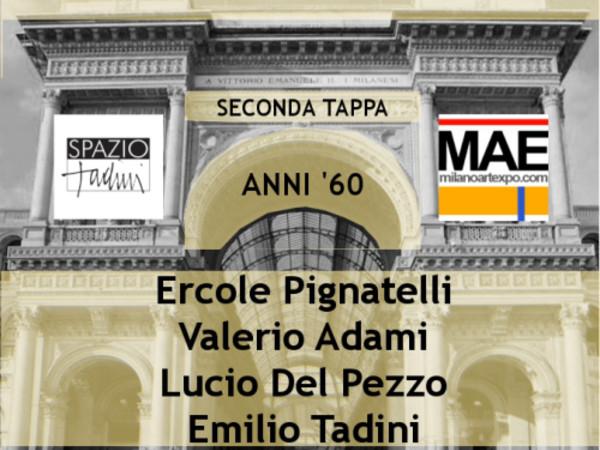 Expo Milano in arte 1945-2015: Pignatelli, Adami, Del Pezzo, Tadini, Spazio Tadini, Milano