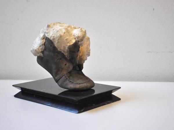 Daniel Spoerri, Senza titolo, 2008, fusione di bronzo placcata argento, h.11.5 x 9 x 10.5 cm