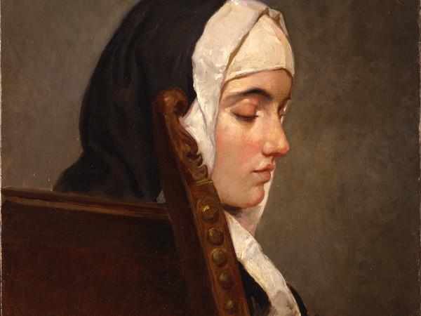 Francesco Hayez, La monaca. Olio su tela, 54x40,5 cm. Collezione privata