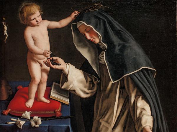 Giovan Battista Salvi detto il Sassoferrato, Santa Caterina da Siena con Gesù Bambino. Ro Ferrarese, Fondazione Cavallini Sgarbi