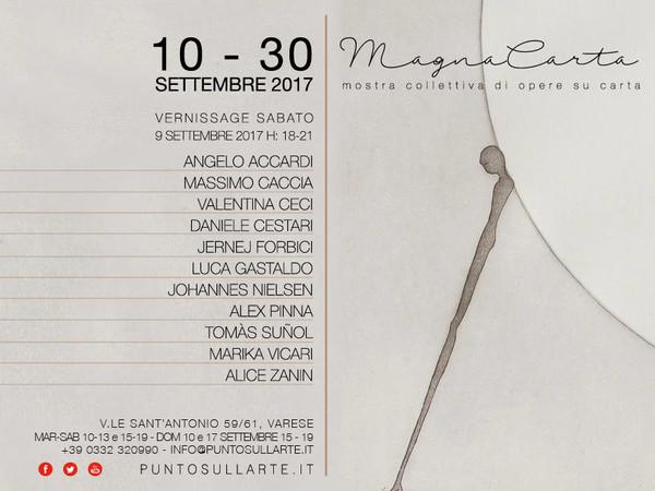 MAGNA CARTA - Mostra collettiva di opere su carta