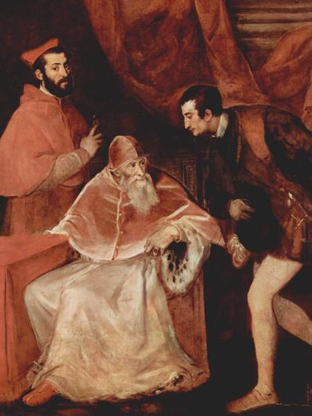 Ritratto di Paolo III Farnese con i nipoti