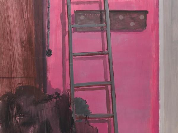 Mikhail Roginsky, Interno rosa, 1981. Acrilico su carta