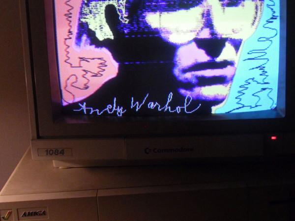 Andy Warhol, Autoritratto, 1985, Amiga 1000