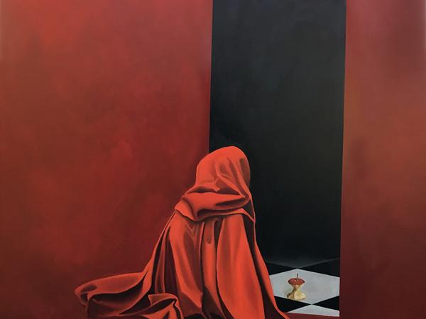 Massimo Fontanini, Biancaneve, olio su tela, cm. 160x60