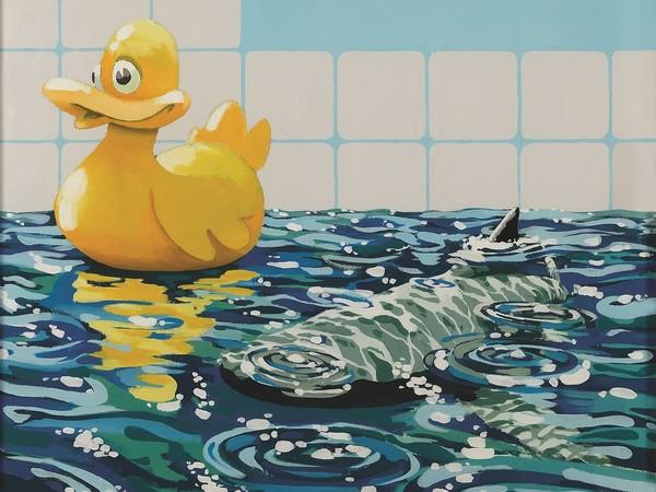 Banksy, <em>Rubber Duck,</em> 2006, cm. 91x91