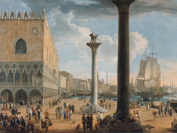 Luca Carlevarijs, Il Molo di San Marco verso la Basilica della Salute, olio su tela, 71 x 122 cm. Roma, Galleria Nazionale di Palazzo Corsini
