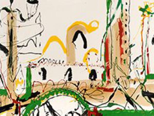 Antonio Meneghetti, Venezia, 1987, smalto su tela, 100x120